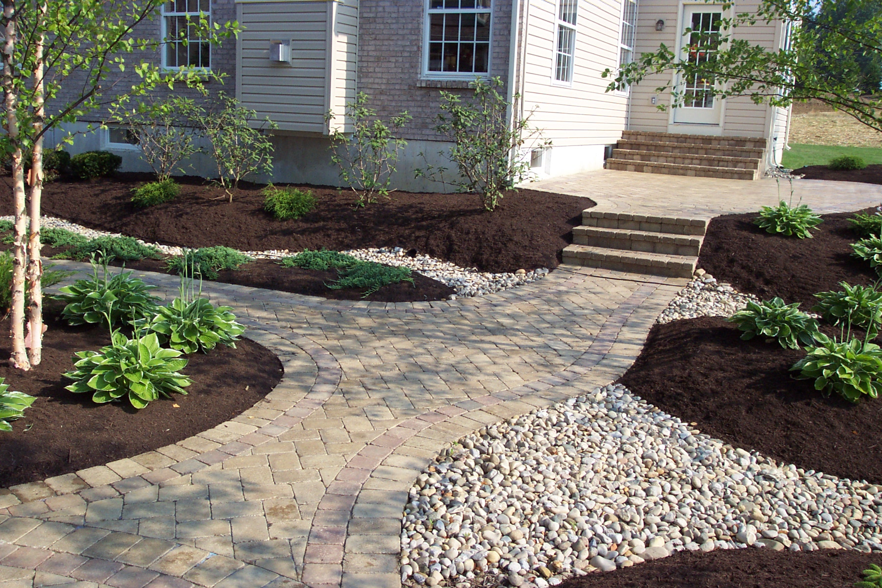 Hardscaping Dry Garden Landscaping Ideas : Olympic lawns hardscaping services
